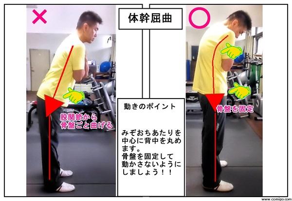ストレッチ体幹屈曲を習う