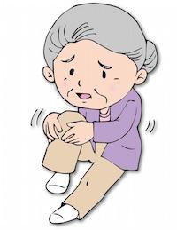 脚がつる・膝が痛いおばあさん
