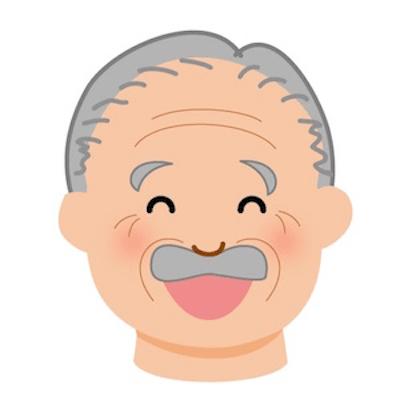 笑うおじいさん