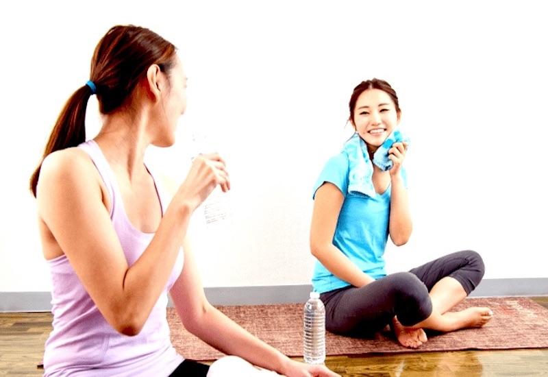 トレーニング後の女性たち