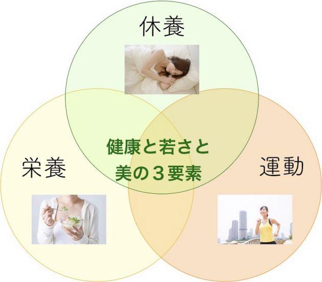 健康と若さと美の3要素